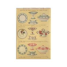 Vintage French Porcelain Rectangle Magnet
