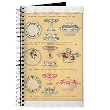 Vintage French Porcelain Journal