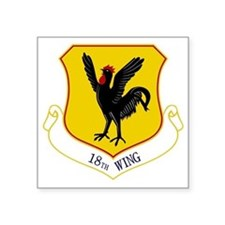 "18th Wing Square Sticker 3"" x 3"""