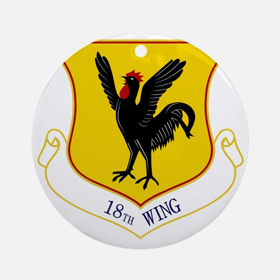 18th Wing Round Ornament