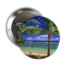 """Tropical beach 2.25"""" Button"""