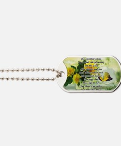 Mothers Day Poem with Roses and Butterfly Dog Tags