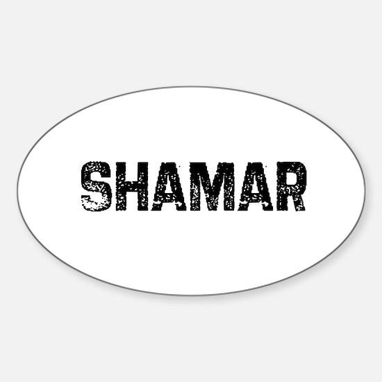 Shamar Oval Decal