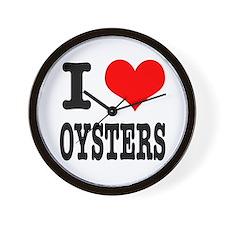 I Heart (Love) Oysters Wall Clock
