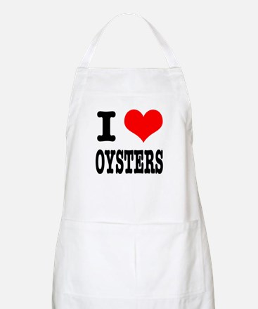 I Heart (Love) Oysters BBQ Apron