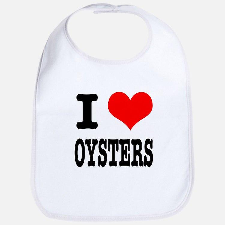 I Heart (Love) Oysters Bib