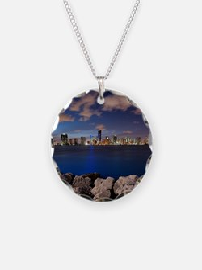 Miami Night Skyline Necklace