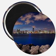 Miami Night Skyline Magnet