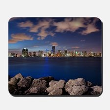 Miami Night Skyline Mousepad