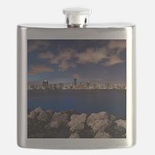 Miami Night Skyline Flask