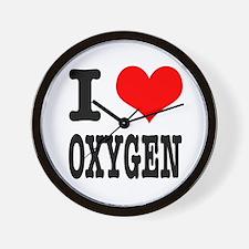 I Heart (Love) Oxygen Wall Clock