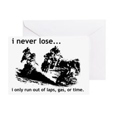 I Never Lose Dirt Bike Motocross Fun Greeting Card