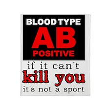AB Positive Blood Type Dirt Bike Mot Throw Blanket