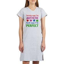 autismGodPerf1C Women's Nightshirt