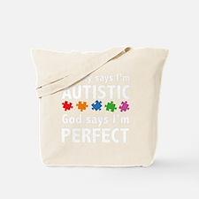 autismGodPerf1B Tote Bag