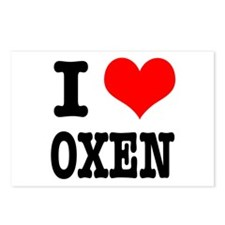 I Heart (Love) Oxen Postcards (Package of 8)