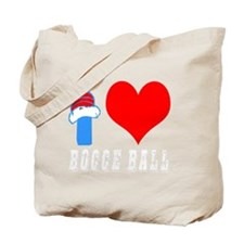 I Love Bocce Ball Design Tote Bag