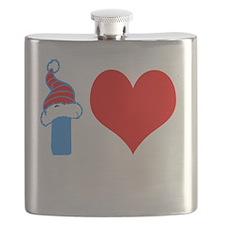 I Love Base Jumping Design Flask