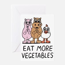 Eat more vegetables Greeting Card