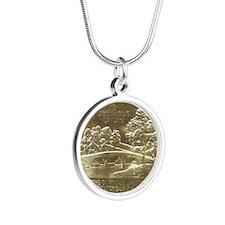 Battle of Antietam Anniversa Silver Round Necklace