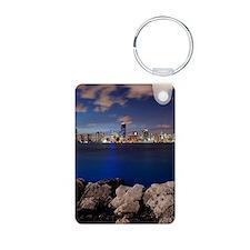 Miami Night Skyline Keychains