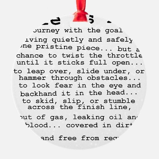 Life Is Not Dirt Bike Motocross Shi Ornament