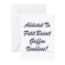 PBGV Addicted Greeting Cards (Pk of 10)