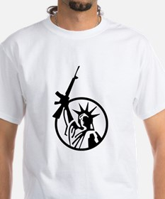 Lady Liberty AR-15 Women's Cap Sleeve T-Shirt