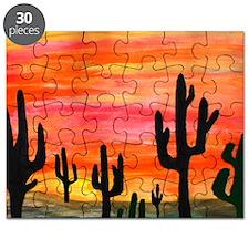 Cactus Desert Sunset Puzzle