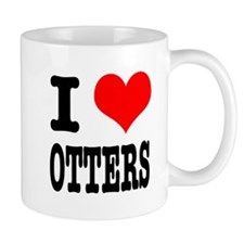 I Heart (Love) Otters Mug