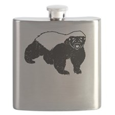 Honey Badger Never Gives Up Flask