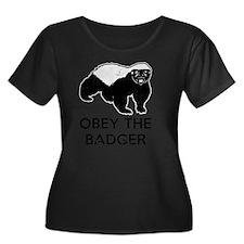 Obey The Women's Plus Size Dark Scoop Neck T-Shirt