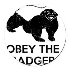 Obey The Badger Round Car Magnet