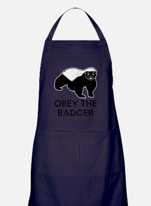 Obey The Badger Apron (dark)