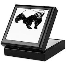Honey Badger Never Gives Up Keepsake Box
