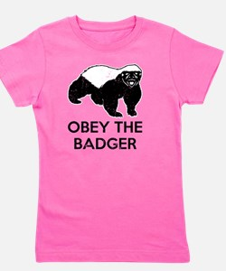 Obey The Badger Girl's Tee