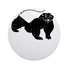 Honey Badger Is Just Crazy Round Ornament