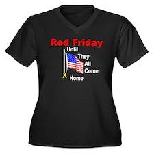 Red Friday (yellow ribbon) Women's Plus Size V-Nec