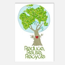 Reuse Reduce Recycle Postcards (Package of 8)