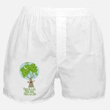 Reuse Reduce Recycle Boxer Shorts