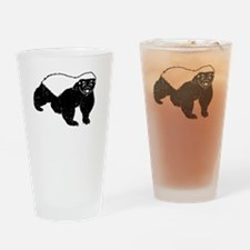 Obey The Badger Drinking Glass
