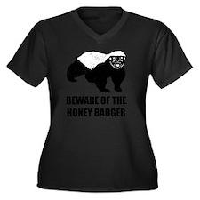 Beware Of Th Women's Plus Size Dark V-Neck T-Shirt