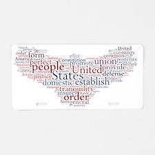 Preamble Eagle Aluminum License Plate