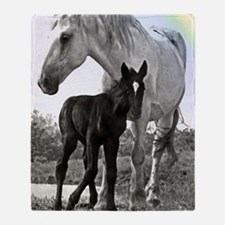 Mare  Colt High Contrast Throw Blanket
