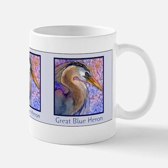 Great Blue Heron Watercolor Mug