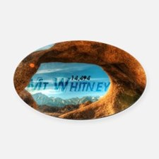 Mobius Arch Oval Car Magnet