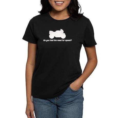 White Motorcycle Women's Dark T-Shirt
