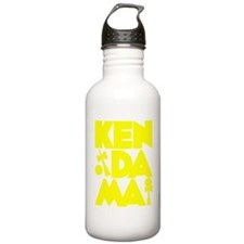yellow Cubed Kendama 2 Water Bottle