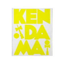 yellow Cubed Kendama 2 Throw Blanket