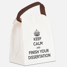 Keep calm and finish your dissert Canvas Lunch Bag